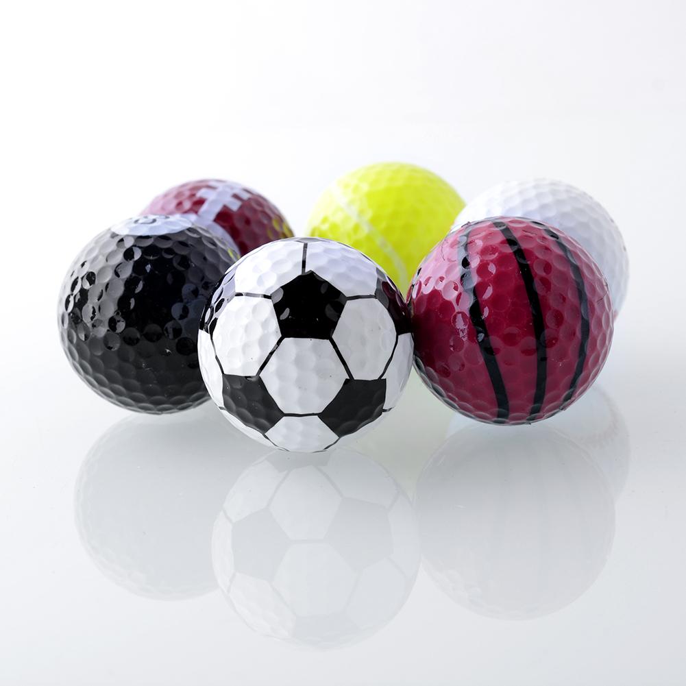Set 6PCs Novelty Assorted Champion Sports Golf Balls Joke Fathers Day Best Present Rubber Free Shipping(China (Mainland))
