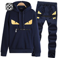 monster eyes sport suits hoodie pant outdoor sportwear Sweatshirt Sweater men Tracksuit