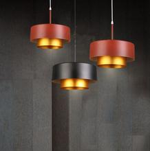 Modern black red aluminum pendant light dia 30*30cm vintage industrial droplight cafe/bar/restaurant Loft hanging lamp fixture(China (Mainland))