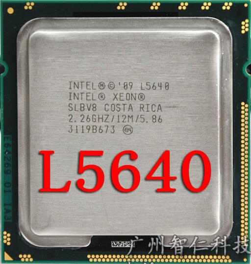 Free Shipping L5640 CPU/ AT80614005133AB/LGA 1366/6 Cores/12 Threads/60W TDP/12MB L3/Nehalem/32nm/B1 Stepping(China (Mainland))