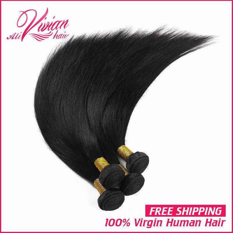 Malaysian Virgin Hair Straight Hair 4 PCS Lot Unprocessed 8A Grade Virgin Malaysian Hair Unprocessed Human Hair Extensions(China (Mainland))