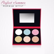 Perfect Summer Professional 6 Colors Concealer Palette Contour Palette Face Cream Care Camouflage Makeup Base Cosmetics