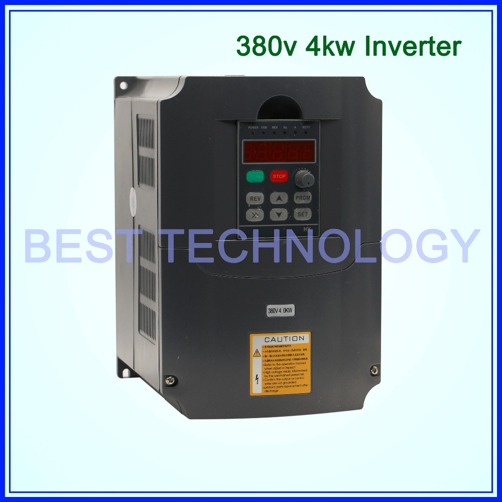 380v 4kw VFD Variable Frequency Drive VFD Inverter 3HP Input 3HP Output Frequency inverter spindle motor speed control(China (Mainland))