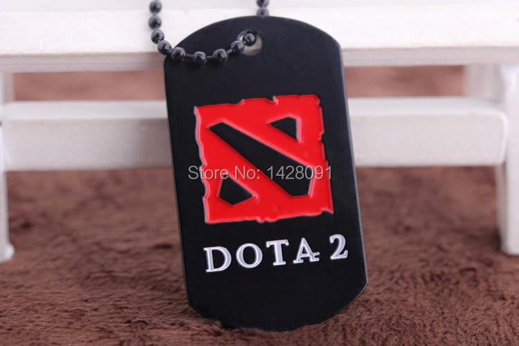 Dota 2 Logo Necklace 12 pieces / lot metal pendant figure jewelry game accessories dota2(China (Mainland))