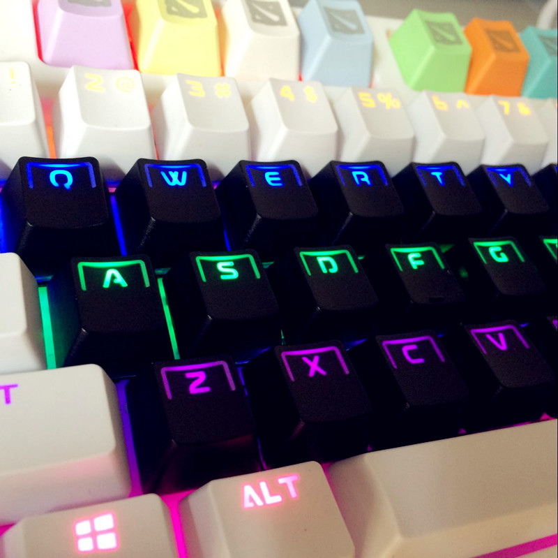 104keycap- keycap double color light, mechanical keyboard gm, pervious to light the key cap, suitable for cherry razer keyboard(China (Mainland))
