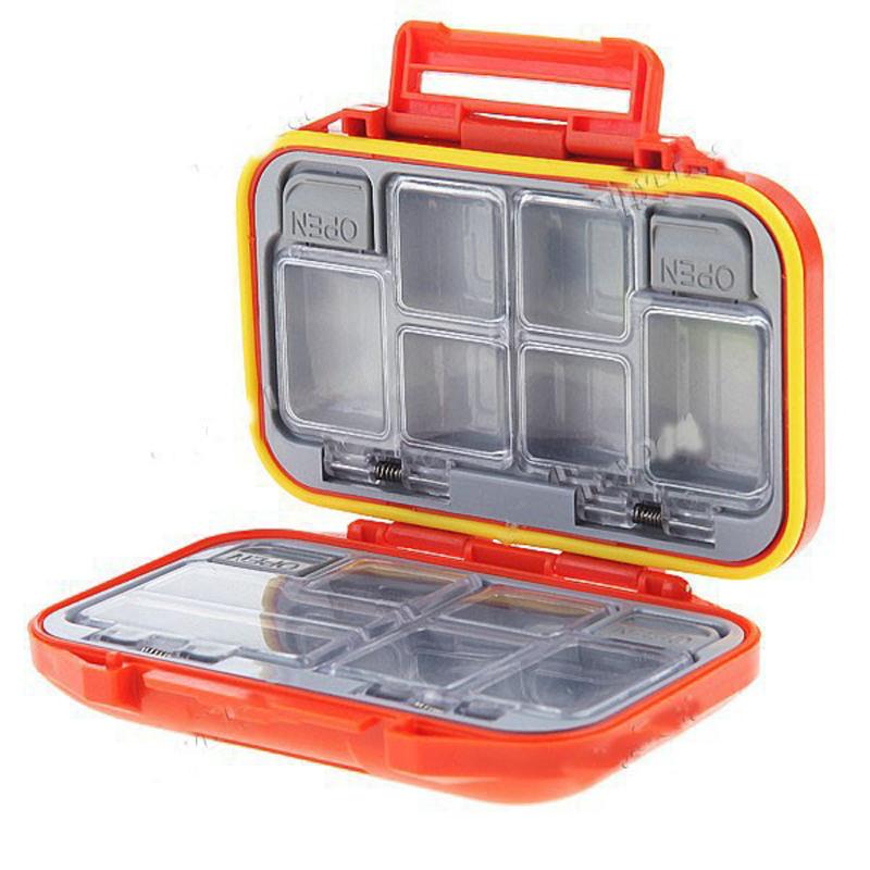 Cheap 12 Compartments Waterproof Fishing Fish Lure Hook Bait Tackle Storage Box Case-Orange(China (Mainland))