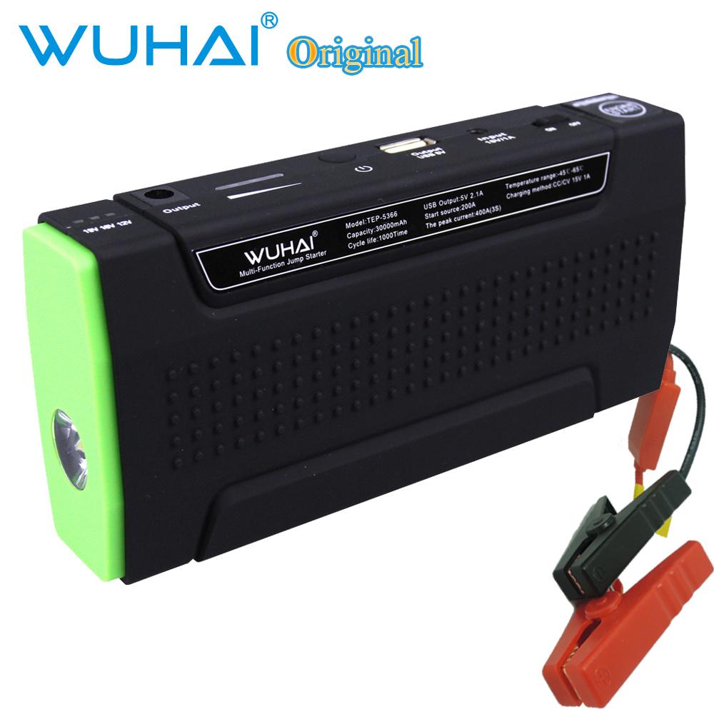 Multifunctional WUHAI 30000mAh Car Jump Starter 12V Vehicle AUTO Engine EPS Emergency Start Rechargeable Battery Pack Power Bank(China (Mainland))