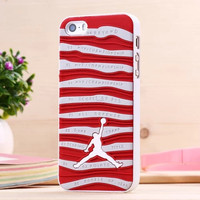 2015 New Fashion Star Jordan Basketball PC Cover Case For iPhone 5 5s Jumpman Sports Brand Logo Phone Cases Free Shipping May