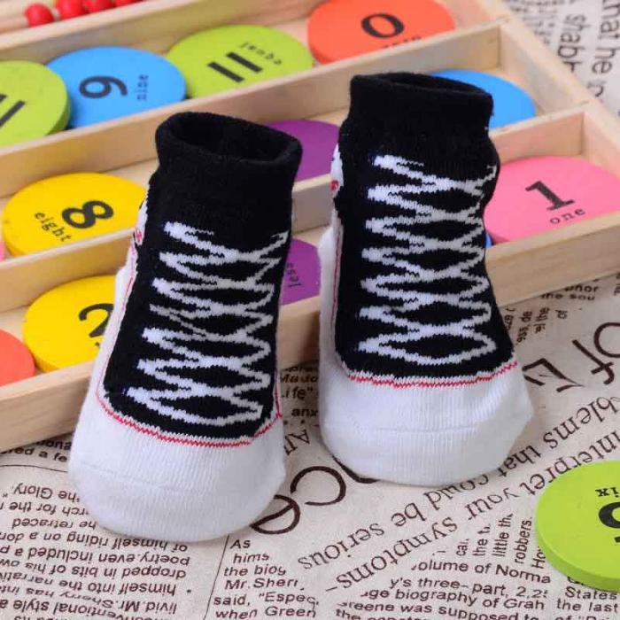 1 Пара Новорожденный Девочка Мальчик Baby Дети Малышей Подарков 3D Реалистичные Формы Ботинок Шарм Анти Скольжения Носки Большой