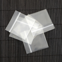 Plastic Packaging Bags Wholesale 100pcs 3x3CM White Clear Zip Lock PE Transparent Display Jewelry Gift Bag