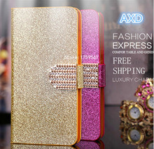 New Arrives Shiny Glitter Leather Flip Phone Case Cover For Samsung Galaxy Core Prime G360H With Card Holder And Stand