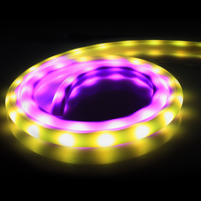 1m 5050 Rainbow Led Strip 12V WS2811 IC Waterproof IP67 RGB flexible Led neon tube light rope for show party home decoration(China (Mainland))