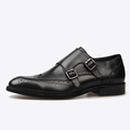 men first grade leather dressing shoes Christmas gift black brogue footwear fashion derby shoes brand luxury