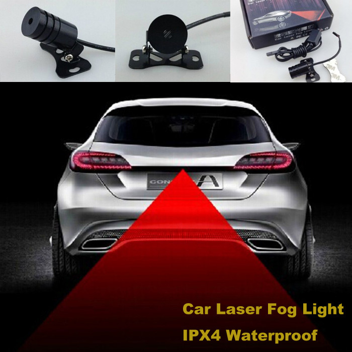 Car Laser Fog Warning led beacon Light Car Laser Prevent from Tailgating Rear ANTI-Collision Fog Lamp traffic warning light(China (Mainland))