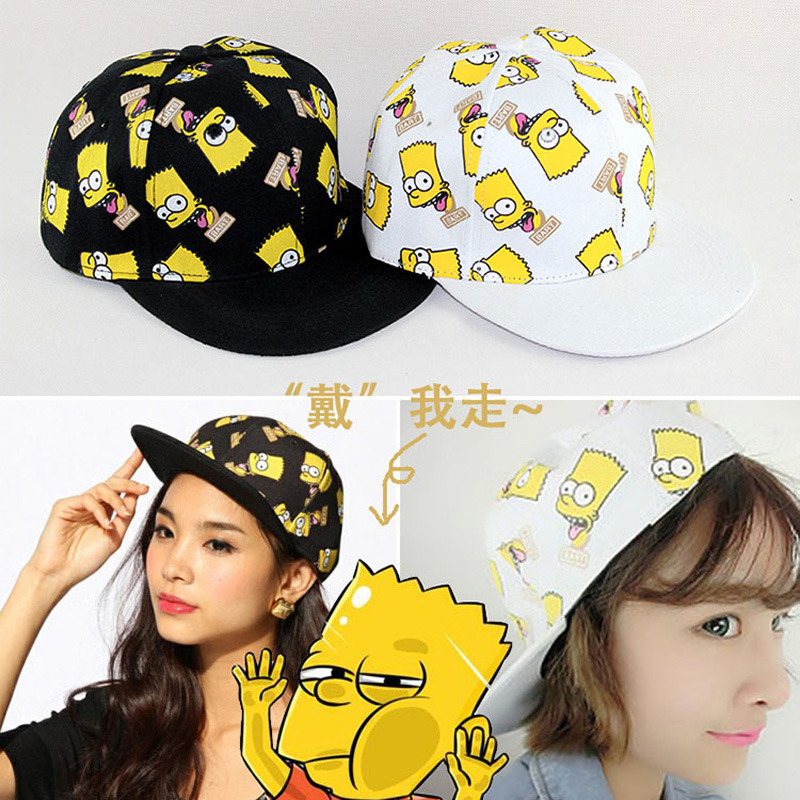 Cartoon Character Simpson Snapback hats Kids Baseball Caps Unisex Flat Sunhat Parent-child Lovers Hip-Hop Cap Casquette Gorras(China (Mainland))