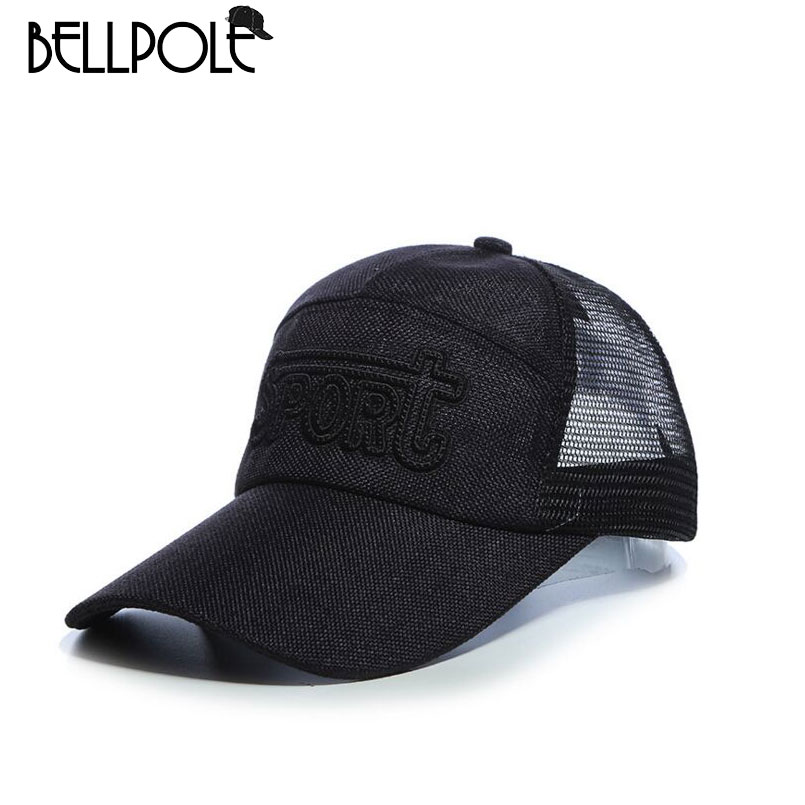 2017 Adult Limited New Arrival Bellpole Summer Breathe Freely Mesh Baseball Cap Quick Dry Sun Hats Chapeu Casual Bone 3 Styles(China (Mainland))