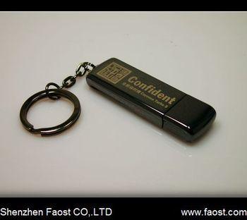 chrome zinc-alloy flash memory drive, gift usb disk, free logo printing