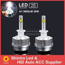 30W Car 3600lm led ETI Chips Headlight H1 H3 H7 H8 H9 H11 9005 HB3 9006 HB4 9012 H4 H13 9004 9007 One LED Headlights - Shinho Auto Accessories Supplier store