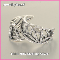 Butterfly Wing 925 Sterling Silver Ring with Cubic Zirconia For Women Party Rings Pandora New Beginning Rings