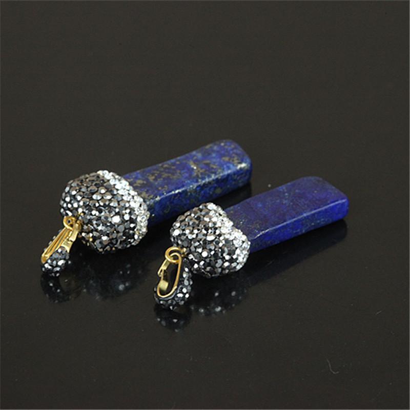 1PCHigh Quality Natural Stone Pendant,Lapis Lazuli Gem Stone Pendant For Women DIY Necklace Making,CrystalCuboid Shaped Pendant(China (Mainland))