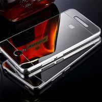 New Electroplate Aluminum Metal Frame with Back Case Fundas for Xiaomi Redmi Note 2 3 Hongmi Note 2 3 Phone Cover Coque Caso