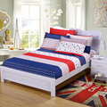 Sheet pillowcase printed fitted sheet with elastic bed sheet polyester cotton bedspread mattress cover sheet twin