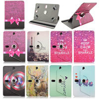 360 Rotation PU Leather case cover For Lark FreeMe 70.8 For Lenovo IdeaTab A7-50 A3500 Universal 7 inch Tablet bags M4A92D