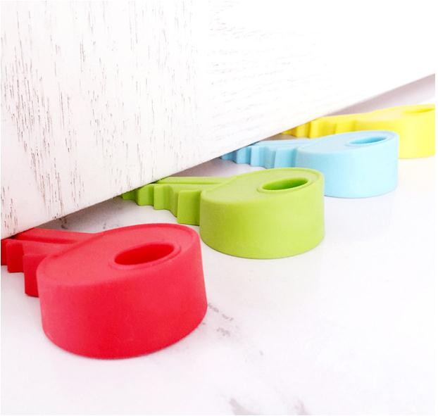 5pcslot Creative siliconekey modelling door stops thicken door Holder Lock Safety Guard Finger Protectionfor Kids Baby_5