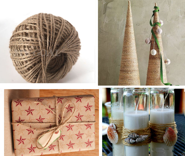 30m Roll Diy Natural Jute Burlap Ribbon Jute Rope Twine Decorative Hemp Rope Scrapbooking