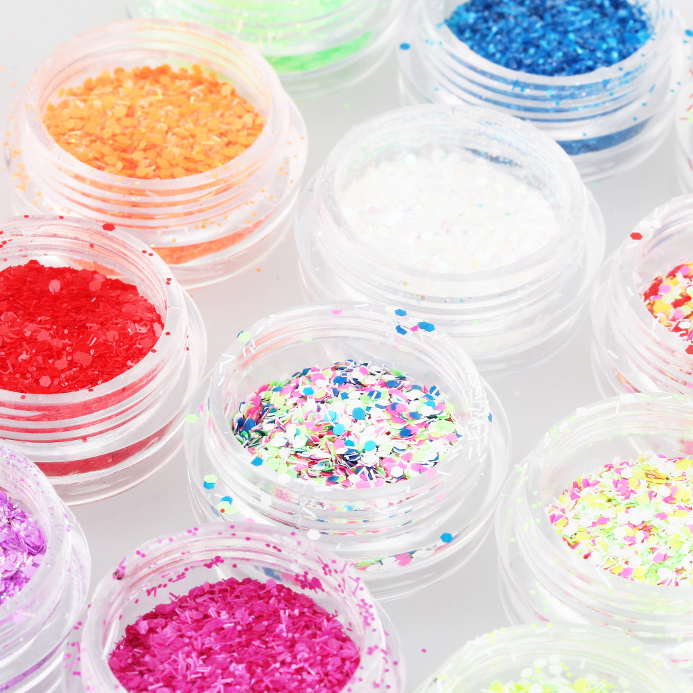 Candy Lover 3d Nail Art 12Color Acrylic Glitter Shimmer Snowflake Powder Dust Decoration Nail Art Set for professional use only(China (Mainland))