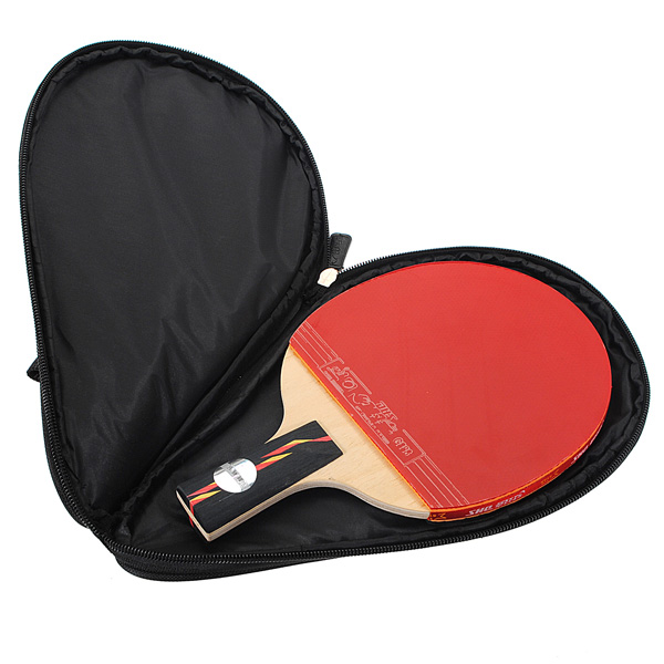 New Arrival Nylon Black Table Tennis Racket Bag for Ping Pong Paddle Bat Sport Case with Ball Pouch Two side pips-in rubber(China (Mainland))