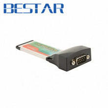 RS232 Interface Express Card RS232 34 mm Latop Notebook 34mm port Serial Port DB 9pin female(China (Mainland))