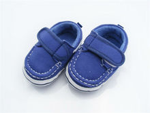 Sky Blue square mouth boy canvas shoes baby toddler shoes size 11 CM very good