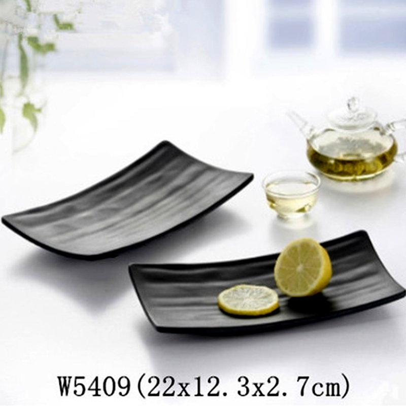Kitchen Accessories China: Black Sushi Plate Manufacturers Package Mail Kitchen