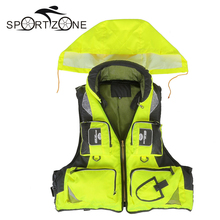 New Outdoor Unisex Adult Life Jacket Fishing Safety Life Vest For Water Sports Drifting Boating Sailing Kayak Survival Swimwear(China (Mainland))