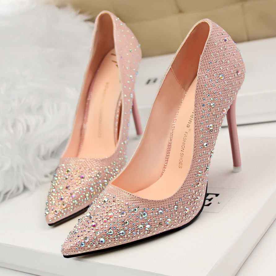Gold And Pink Heels