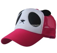LGFC01502 New arrival panda net mesh women summer trucker baseball caps