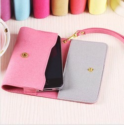 PinShow smart pouch for iphone 4s / 4 credit card holder bag wallet case for iphone 4 with wrist strap and retail package