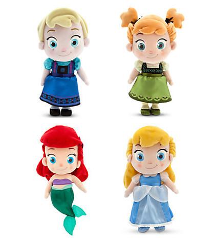 "Toddler Ariel Cinderella Plush Doll Elsa Anna Plush Doll 30cm 12"" Toy Birthday Gift(China (Mainland))"