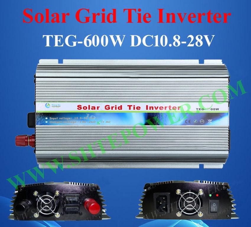 600W grid tie inverter for solar, panel solar inverter for home 600 watts, converter 24V 220V(China (Mainland))