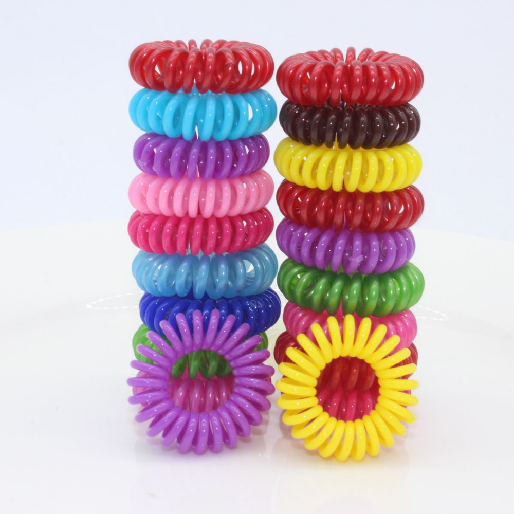 2016 wholesale Telephone Elastic Hair Bands For Girl Hair Tie Plastic Rubber Bands Bobble hair Accessories for women scrunchy()
