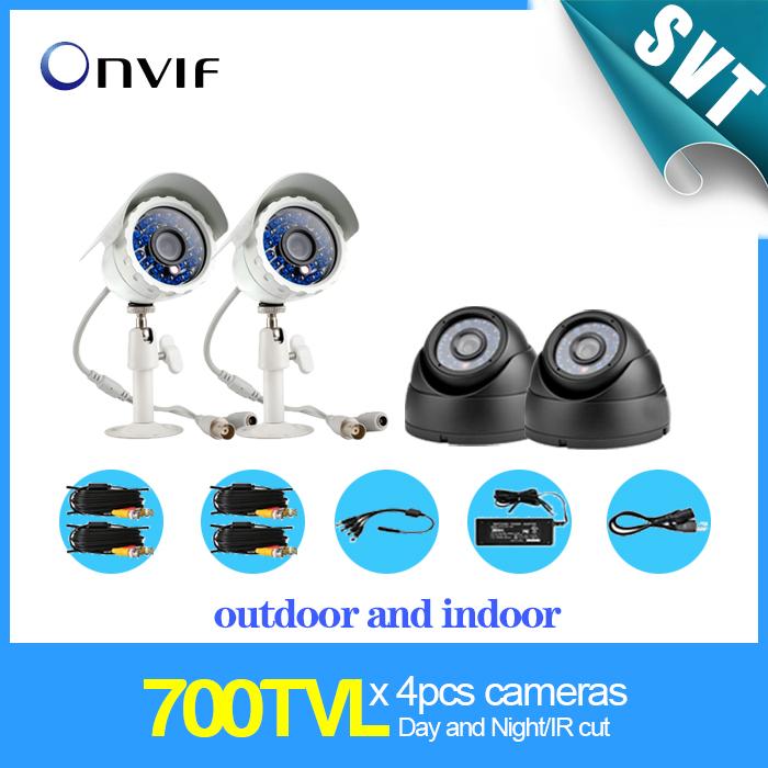 700TVL CMOS IR cut Security Weatherproof Surveillance CCTV Camera kit Power Supply Video Cable SK-096 - TEATE SmartKeeper Store store