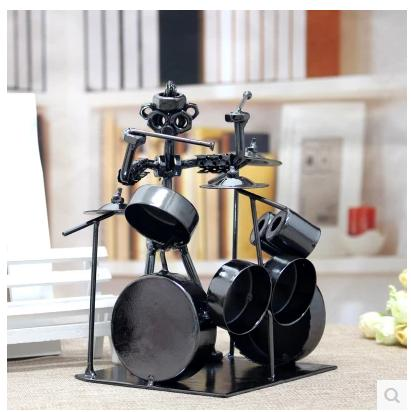 Creative fashion wrought iron metal band iron drums handicraft furnishing articles decoration items toys free shipping(China (Mainland))