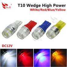 1Pcs Hotsale T10 1.5W High power W5W white 194 168 192 super bright Auto led car led wedge auto lamp