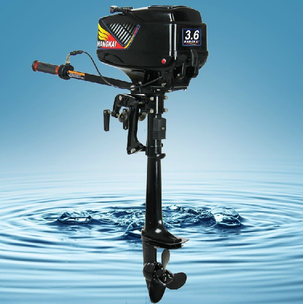Promotion 3.6HP HANGKAI outboard motor boat engine water cooled free dropshipping 2pcs 5% off(China (Mainland))