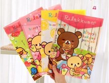 Freeshipping! New rilakkuma style File folder / A4 documents file bag / stationery Filing Production / Wholesale(China (Mainland))