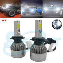 Buy SPEVERT 110W 20000LM LED COB Single Beam H7 Headlight Kit Car Beam Headlamp DRL Fog Lamp Ampoules 6000K White Bulbs 12V for $34.97 in AliExpress store