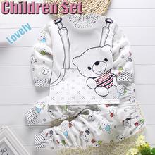Children Cartoon Casual Clothing Set T-Shirt+Pants 2-Piece Set Suit Wear In Sport Vestidos Kids Clothose Baby Boy Girl Clothes