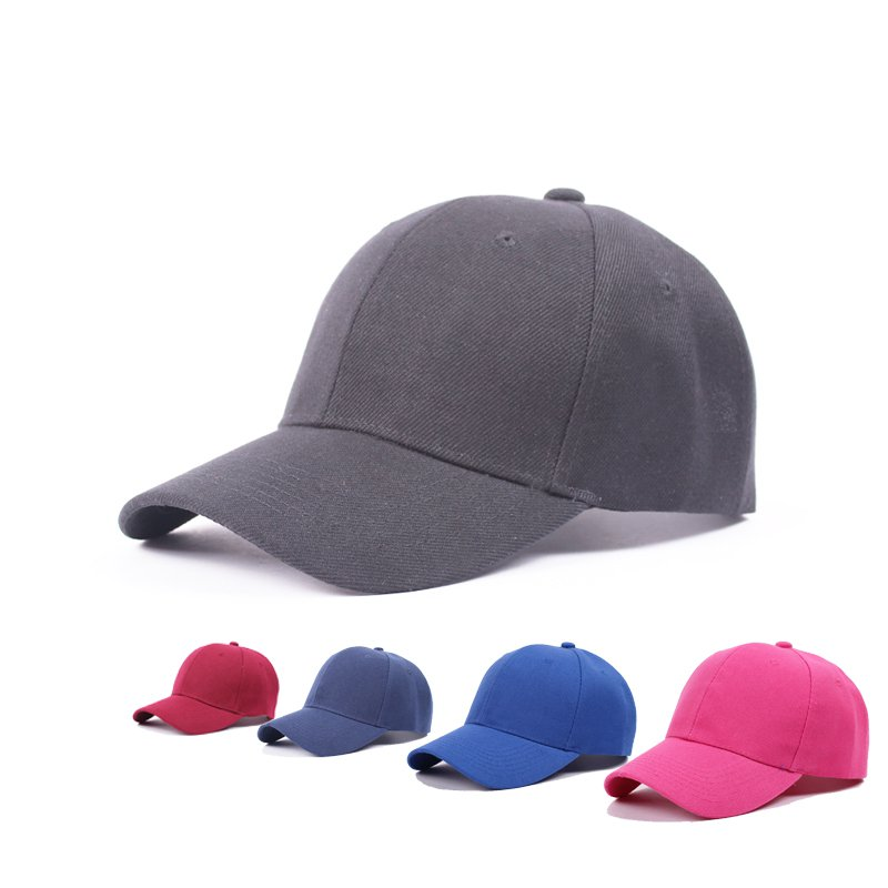 Outdoor casual curled visor dome top man baseball cap 56-59cm adjustable red black white purple blue pink stain craft E7007(China (Mainland))