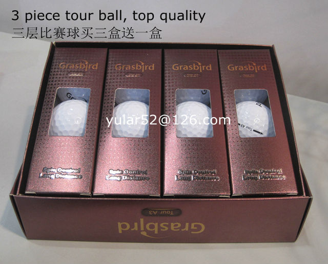 3 piece golf ball new 3-layer tour ball 1 dozen match ball golfe ball sold by manufacturer(China (Mainland))